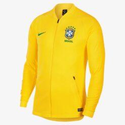 Jaket Bola Nike Pria Brazil Anthem Piala Dunia 2018 893584 749 A