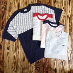 Kaos Lacoste Sport Blocked Stripe T Shirts