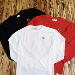 Kaos Lacoste Sport Classic Big Logo Long Sleeve T Shirt