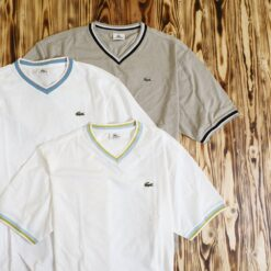 Kaos Lacoste Sport Solid V Neck T Shirt