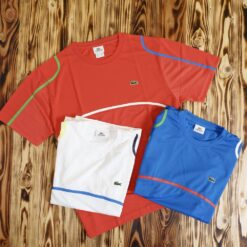 Kaos Lacoste Sport Ultra Dry Engineered Print T Shirt