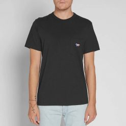 Kaos Maison Kitsune Tri Color Fox Pocket T Shirt