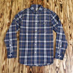 Flannel The North Face Plaid LS Shirt Biru Gelap