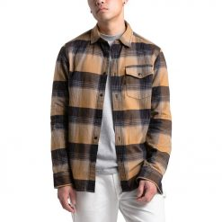 Flannel The North Face Stayside Chamois Multiplaid LS Shirt Original Coklat