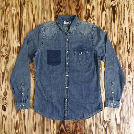 Kemeja Denim Faux Pocket Denim LS Shirt1