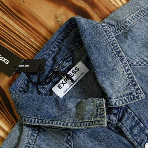 Kemeja Denim Faux Pocket Denim LS Shirt2