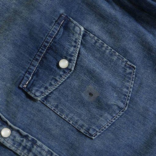 Kemeja Denim Faux Pocket Denim LS Shirt3