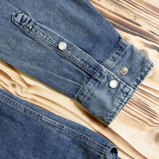 Kemeja Denim Faux Pocket Denim LS Shirt4