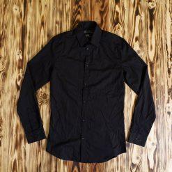 Kemeja Lengan Panjang HM Easy Iron Slim Fit LS Shirt Hitam