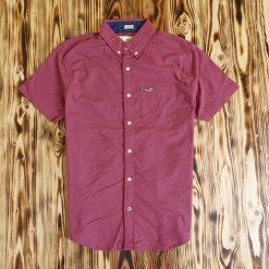 Kemeja Lengan Pendek Hollister Stretch Muslce Fit Button Down SS Shirt