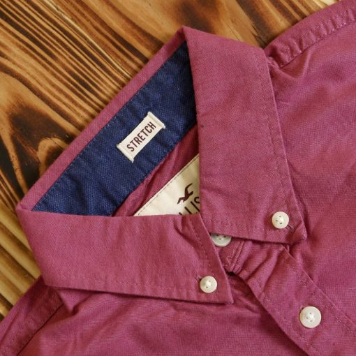 Kemeja Lengan Pendek Hollister Stretch Muslce Fit Button Down SS Shirt1
