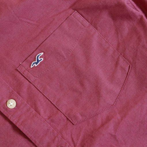 Kemeja Lengan Pendek Hollister Stretch Muslce Fit Button Down SS Shirt2