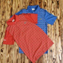 Polo Lacoste Sport Check Print Polo Shirt