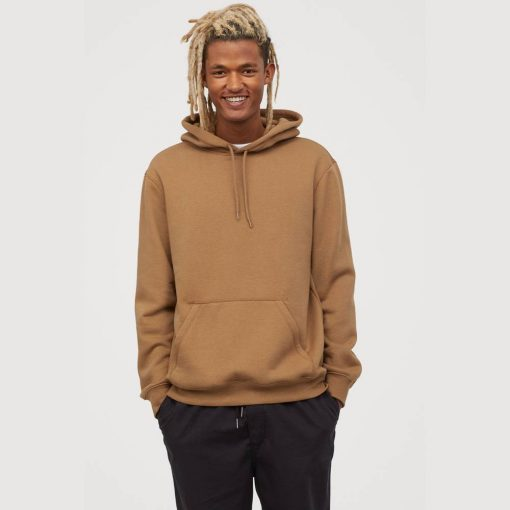 Hoodie HM Divided Terry Basic Pullover Hoodie Coklat