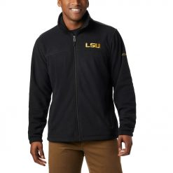Jaket Polar Columbia NCAA Flanker III Full Zip Fleece Jacket LSU