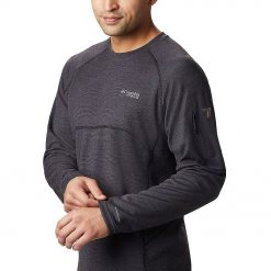 Kaos Hiking Columbia Mens Mount Defiance LS Crew Neck Hitam3