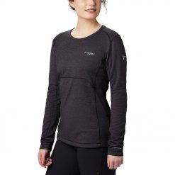 Kaos Hiking Columbia Womens Mount Defiance LS Crew Neck Hitam