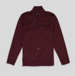 REJECT Sweater Nike Dri Fit Half Zip Pullover Marun res