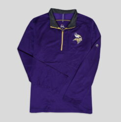Sweater Majestic Mens NFL Scoreboard Fleece Half Zip Vikings4 res