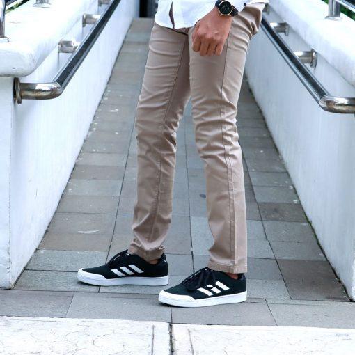 Celana S.Oliver Slim Fit Stretch Chinos Black Label Khaki res