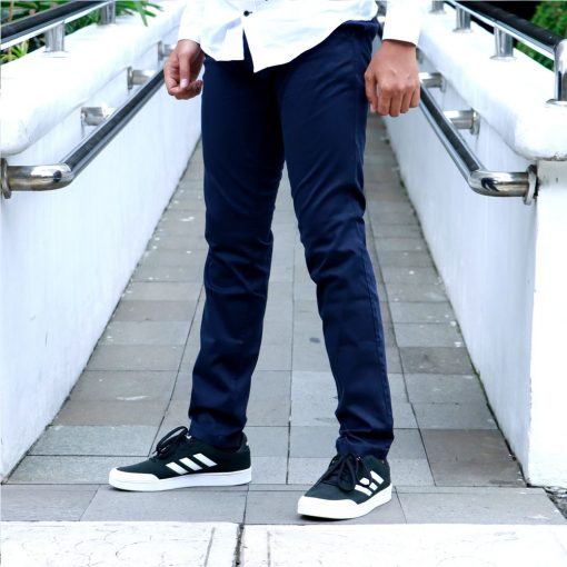 Celana S.Oliver Slim Fit Stretch Chinos Black Label Navy res