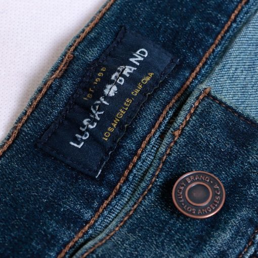 Jeans Lucky Brand 121 Slim Straight Coolmax All Season Trashed3 res
