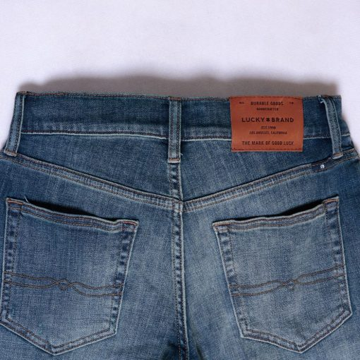 Jeans Lucky Brand 121 Slim Straight Coolmax All Season Trashed6 res