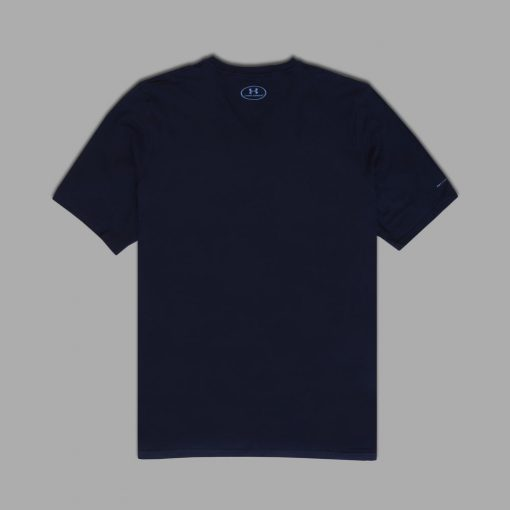 Kaos UA Mens Charged Cotton V Neck Navy4 res